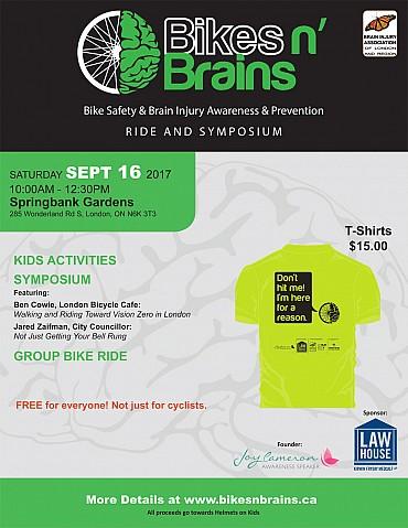 Bikes n Brains Ride and Symposium, Saturday, September 16, 2017 - Springbank Gardens, London